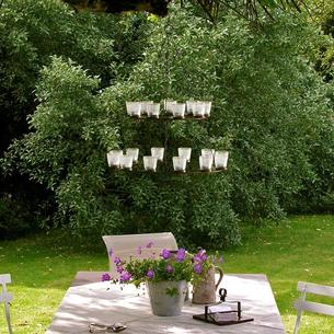 Double Tealight Votive Chandelier