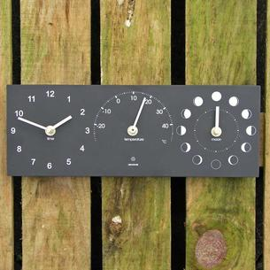 Time, Temperature and Moon Phase Clock