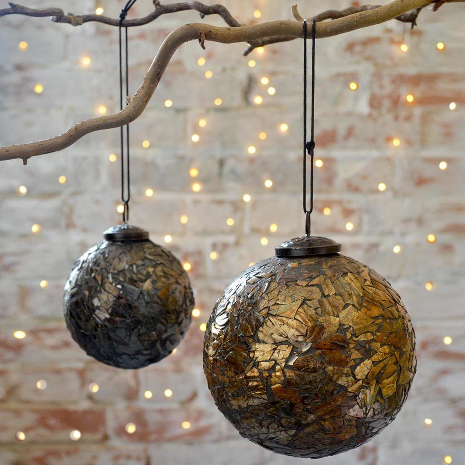 Metallic Mosaic Hanging Baubles