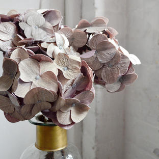 Glittered Lavender Hydrangea Stem