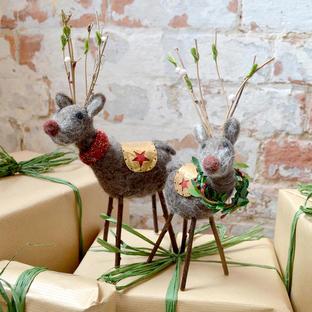 Festive Forest Felt Reindeer