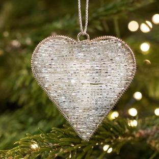 Shimmering Champagne Heart