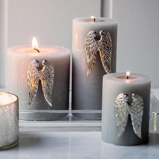 Angel Wings Design Candle Pins