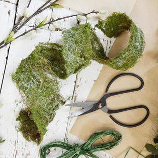 Silver Shimmer Moss Roll