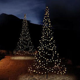 Outdoor 3D Illuminated Christmas Trees
