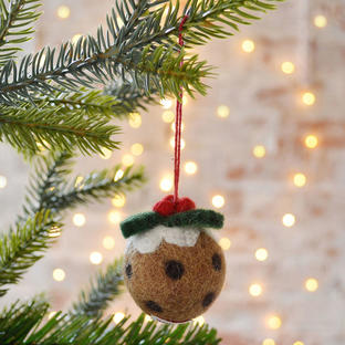 Plum Pudding Felt Decoration