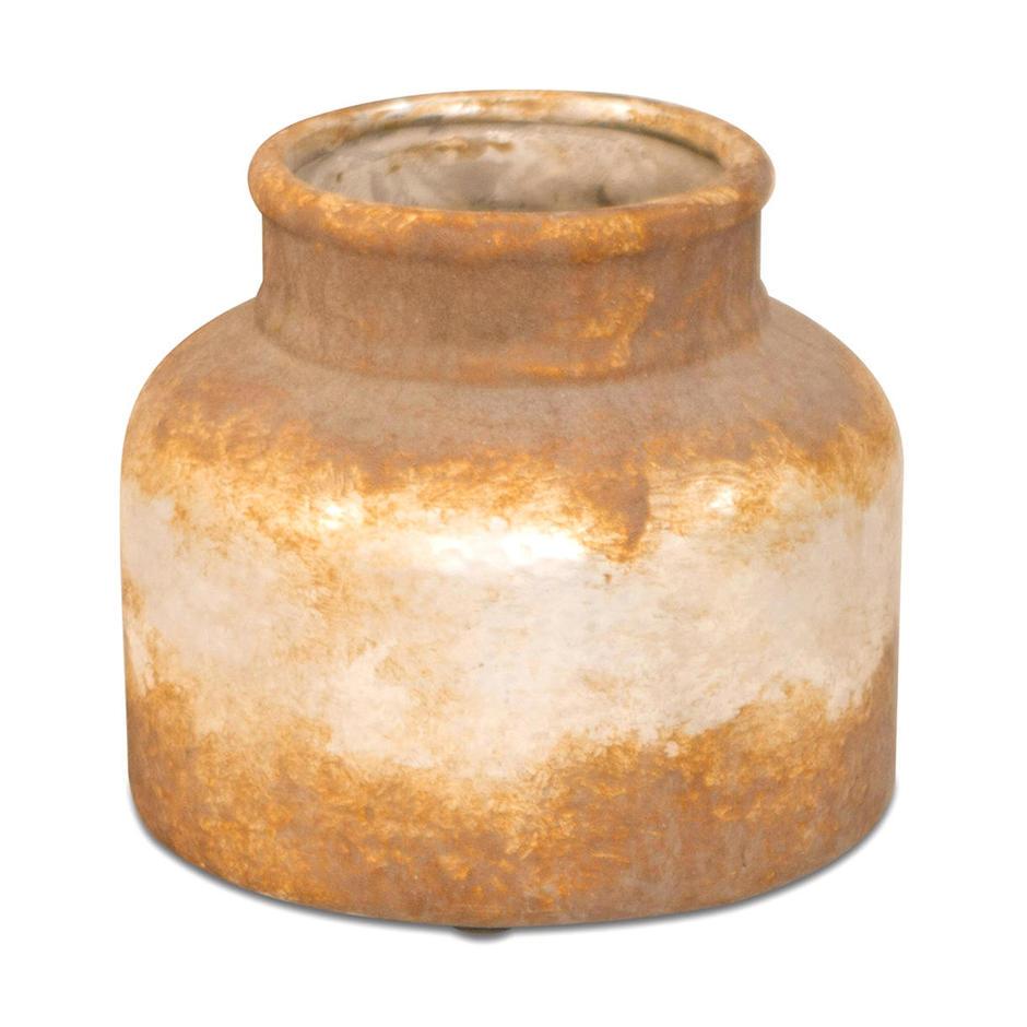 Stubby Rustic Bottle Vase