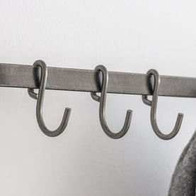 Steel Wall Rail and Hooks