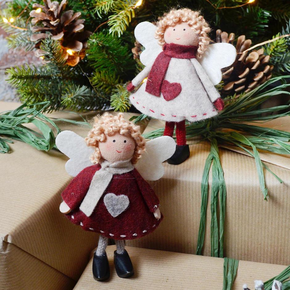 Felt Seasonal Angel Sisters