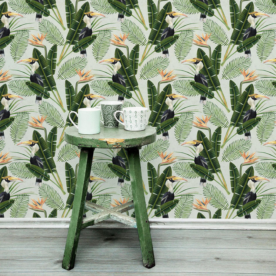 Birds of Paradise Feature Wallcovering