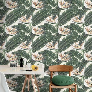 Tropical Bloom Feature Wallcovering