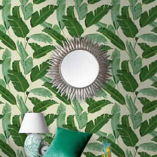Banana Leaves Feature Wallcovering