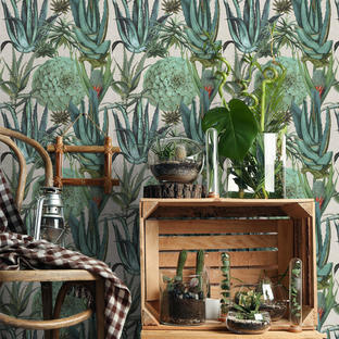Succulentus Feature Wallcovering
