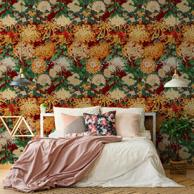 Chrysathemums Feature Wallcovering