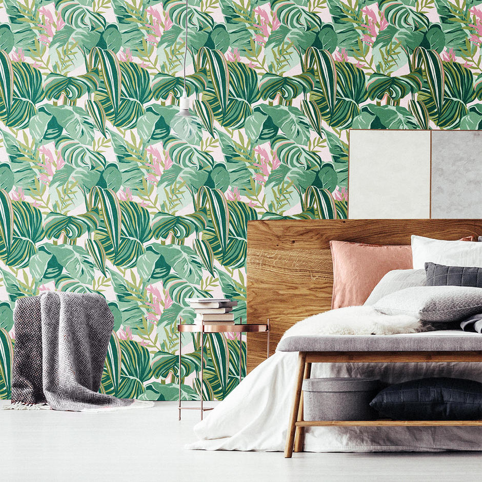 Tropical Foliage Feature Wallcovering