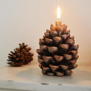 Copper Pine Cone Candle