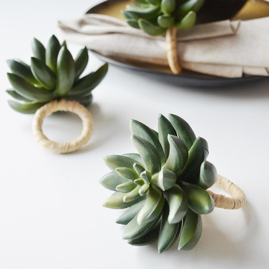 Echeveria Napkin Ring