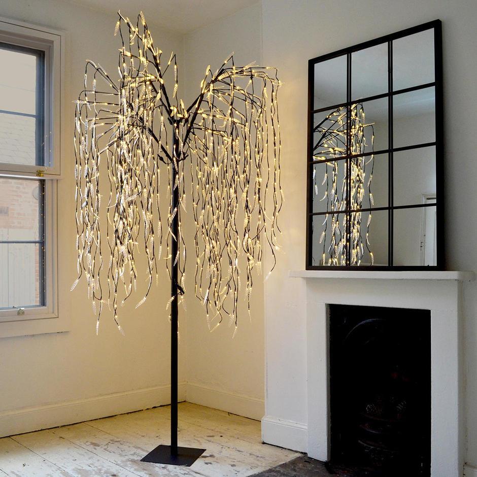 Cascading LED Willow Tree