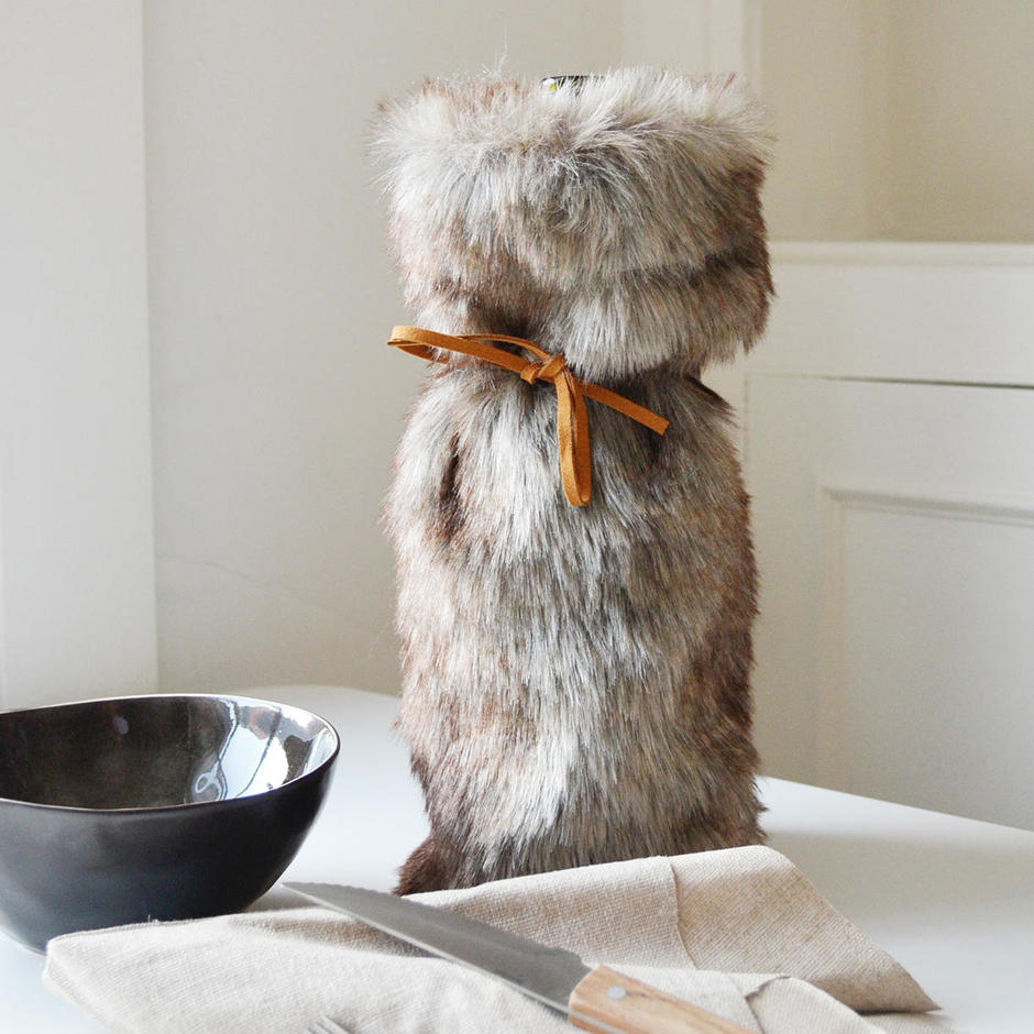 Faux Fur Bottle Cover