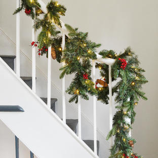 Berry and Pine LED Garland