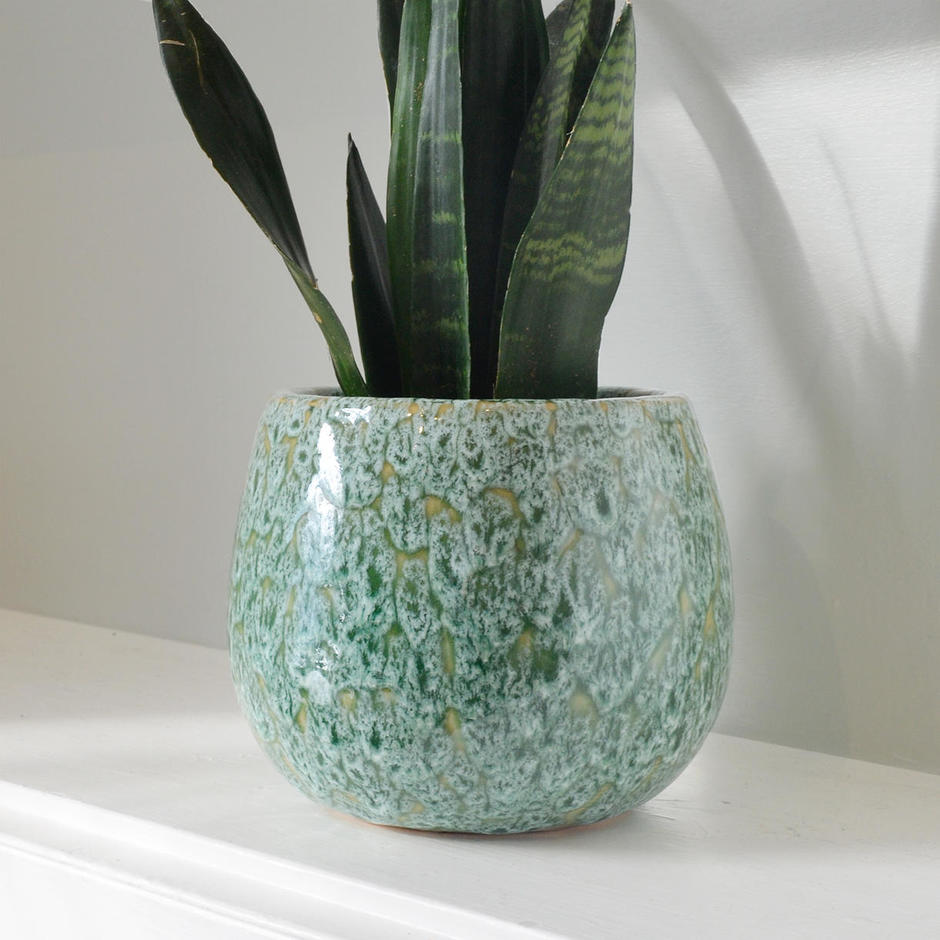 Seagrass Green Indoor Plant Pots