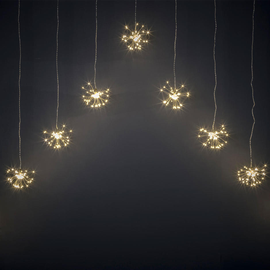 Starburst Sparkler LED Curtain String Light