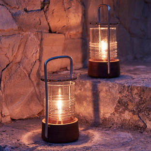 Bollard Teak Oil Lantern