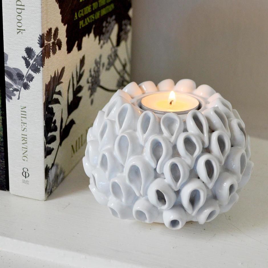 Ceramic Coral Tea Light Holder