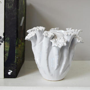 Botanical Ceramic Vase