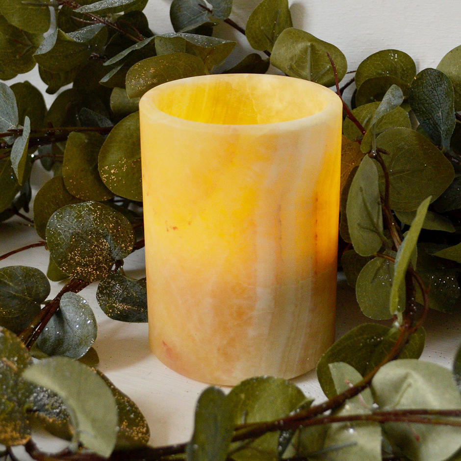 Marble LED Battery Candle