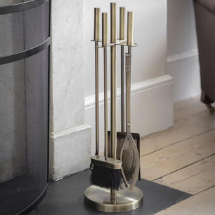 Slender Brass Finish Companion Set