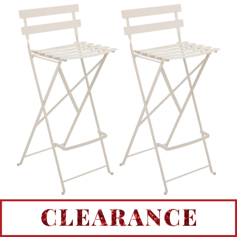 Pair of Bistro Tall Chairs - Clearance
