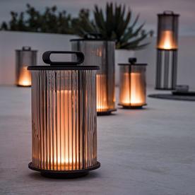Solar Line Glass Lantern