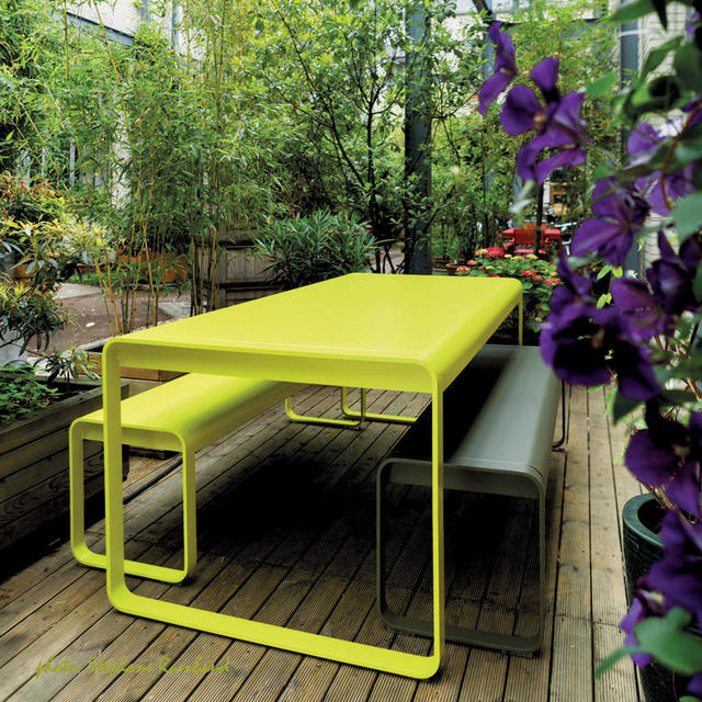 Bellevie table by fermob outdoor furniture the worm that - Banc de jardin occasion ...