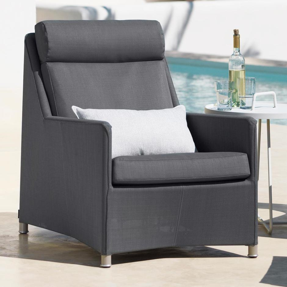 Diamond Highback Outdoor Lounge Chair