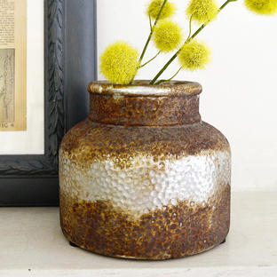 Stubby Rustic Bottle Vase
