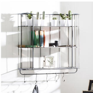 Metal Caged Industrial Shelf Unit