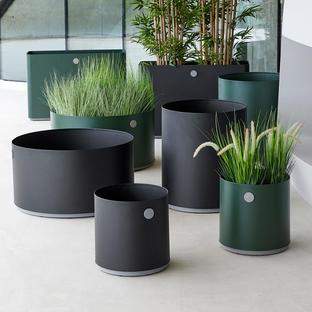 Grow Aluminium Round Planters