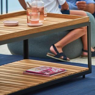 Level Rectangular Coffee Table Top Set