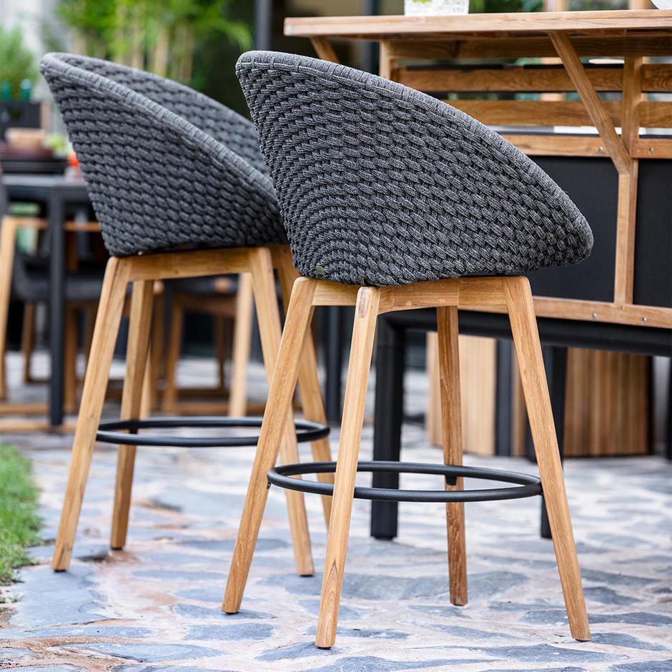 Peacock Rope Bar Chair