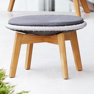 Peacock Footstool