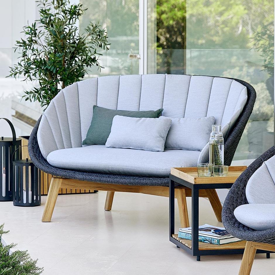 Peacock Rope Lounge 2 Seat Sofa