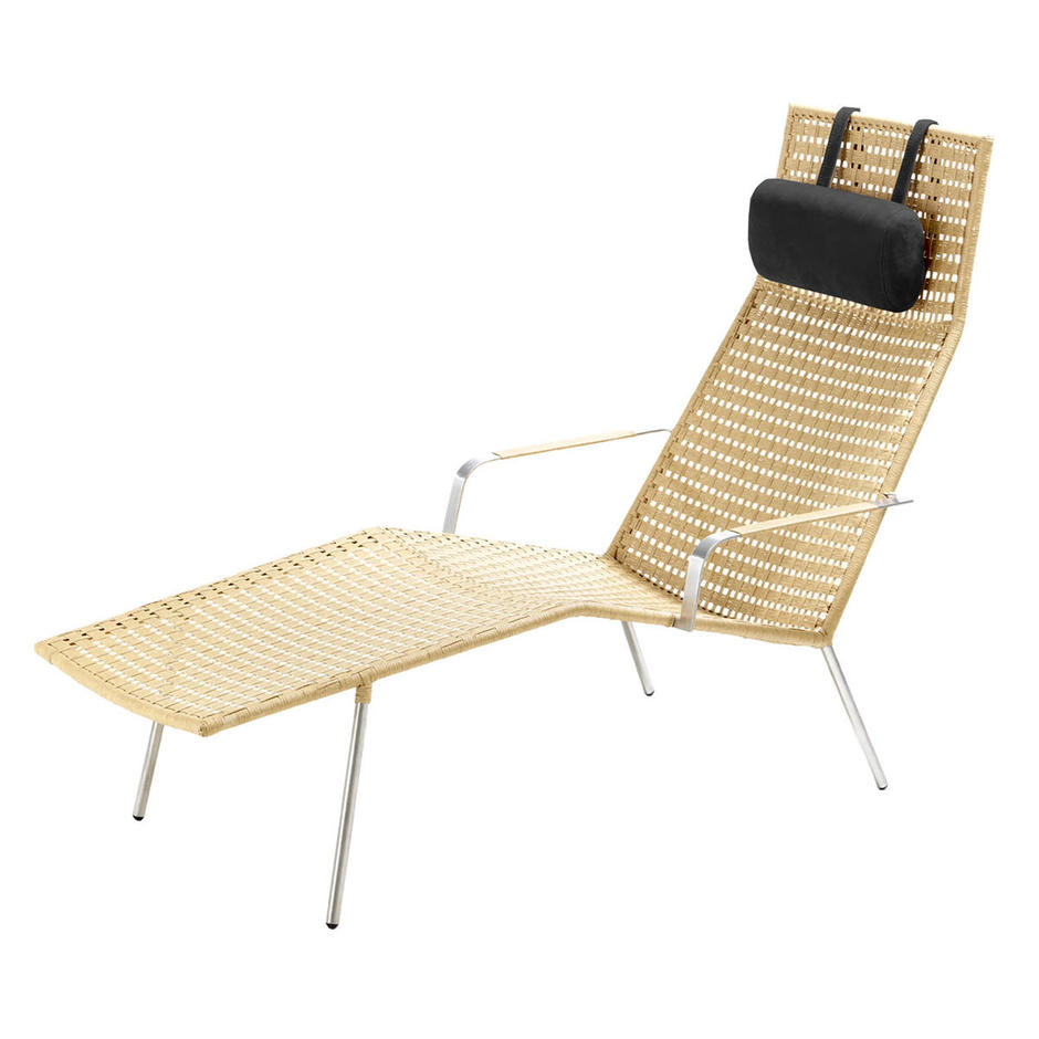 Straw Flat Weave Chaise Lounge Neck Cushion