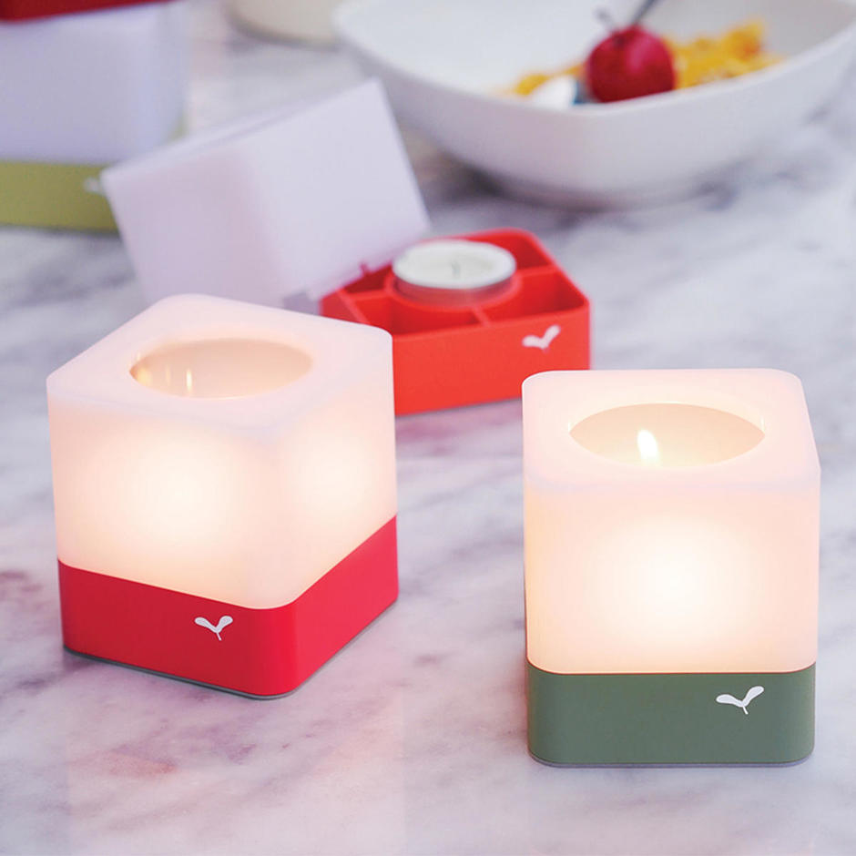 Cuub - Set of 3 Tealight Holders