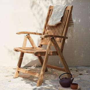 Columbus Adjustable Teak Chair