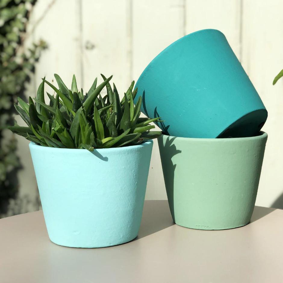 Colourful Painted Plant Pot