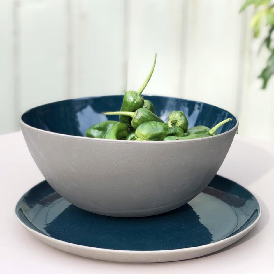 RUR:AL Deep Blue Serving Bowl