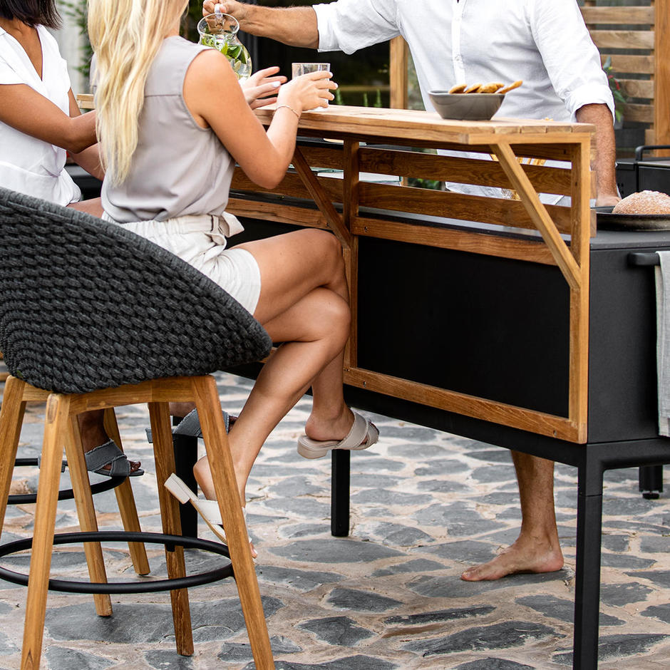 Teak Bar for Drop Kitchen Module