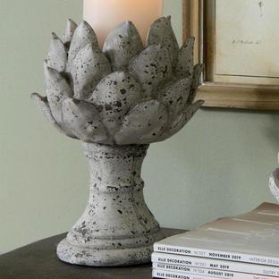 Rustic Stone Artichoke Candleholder