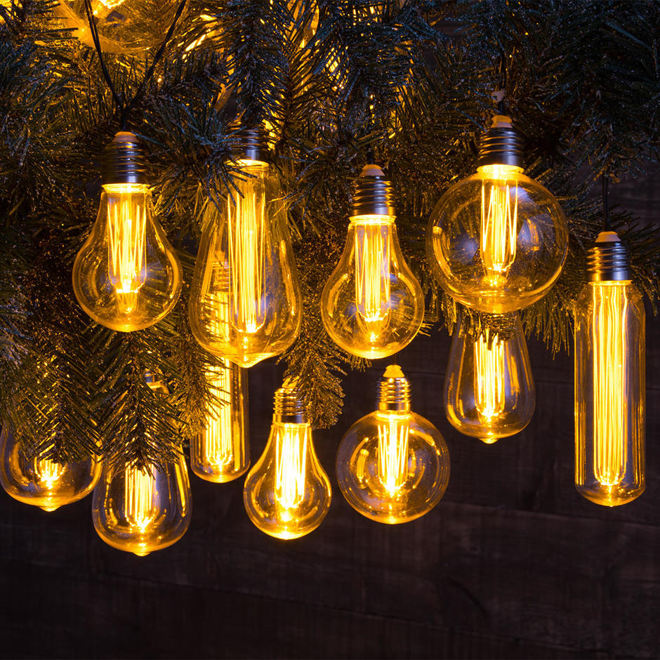 10 Mixed Connectable Edison Bulb String Lights